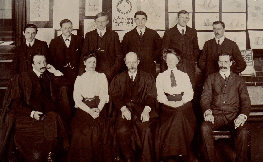 School group - Fred Attenborough back row 3rd from left, Taid 4th from left, Nain 4th from left001